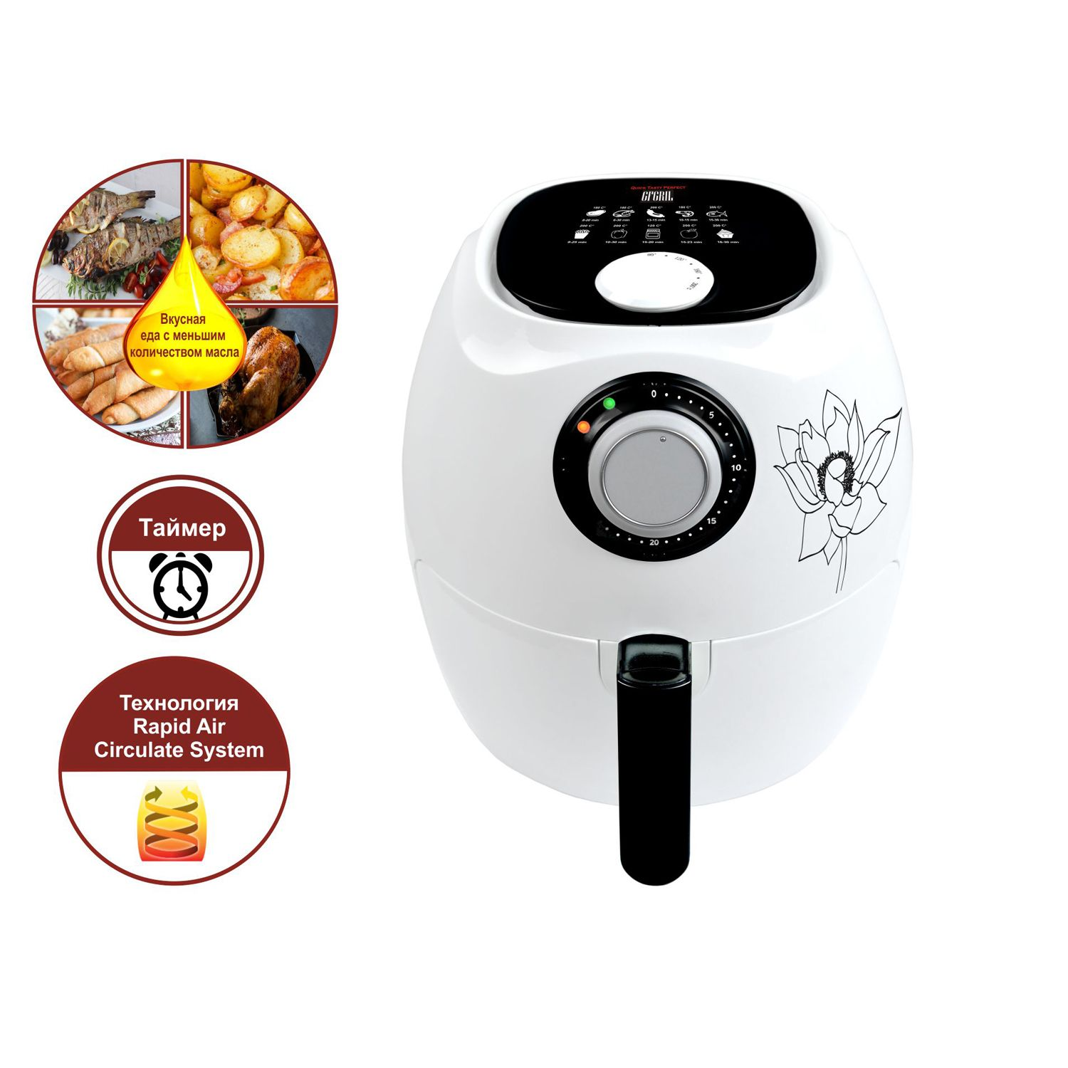 Аэрогриль GFA-2600 Air Fryer Compact